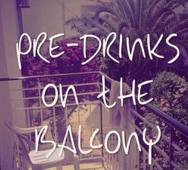pre drinks on the balcony